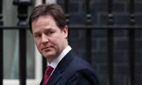 Deputy Prime Minister and Liberal Democrat leader Nick Clegg