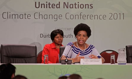 Durban climate change conference, Dec 2011.