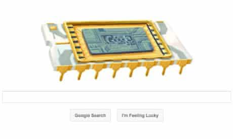 Google doodle celebrating Robert Noyce