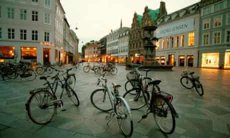 Bicycles at dusk Copenhagen