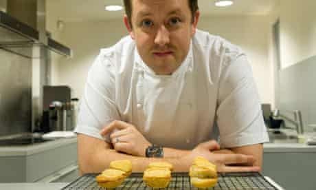 Ashley Palmer-Watts and his deep fried mince pies