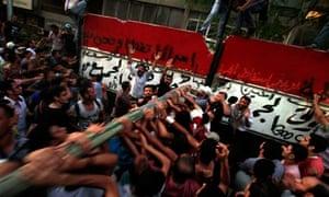 Egyptians attack Israeli embassy
