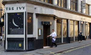 The Ivy restaurant in the West End, where Lord Stevens and Rebekah Brooks dined together