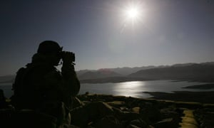 British soldier, Kajaki, Afghanistan 12/1/2007
