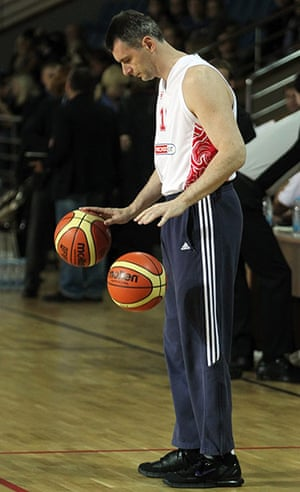 Mikhail Prokhorov: Prokhorov prepares for a charity basketball match in Moscow