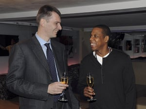 Mikhail Prokhorov: Prokhorov with Jay-Z as they celebrate Prokhorov's purchase of the Nets