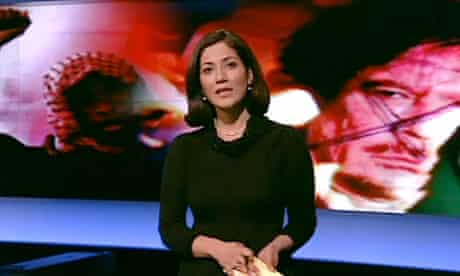 Mishal Husain, one of the presenters of BBC World News