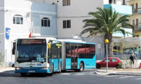 London Bendy Bus in Malta