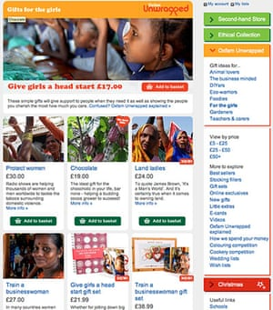 virtual Christmas gift: Oxfam Unwrapped