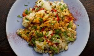 Haricot bean and smoked haddock salad