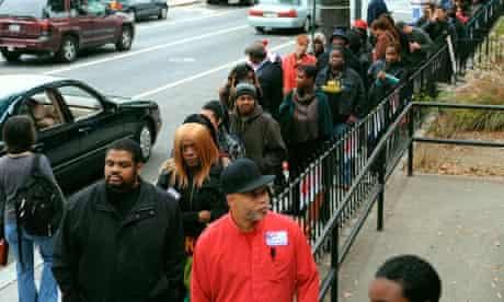 2008 election: black Democrat voters, Obama