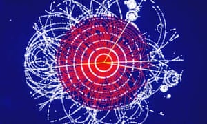 Simulation of a Higgs boson decaying into four muons, CERN, 1990.