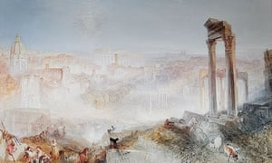 Detail of JMW Turner's Modern Rome - Campo Vaccino