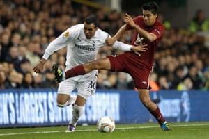 Man Utd targets: Sandro of Tottenham Hotspur and Christian Noboa of FC Rubin Kazan