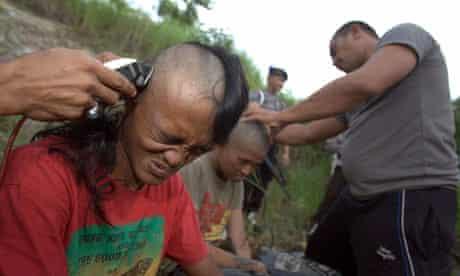 Indonesian punks shaved