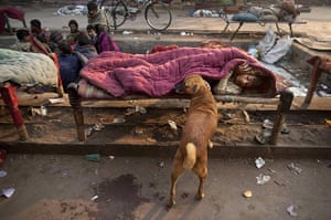 24 hours in pictures: A homeless  youth in New Delhi