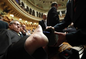 24 hours in pictures: Swiss Christian Democrat National Councillor Christian Lohr