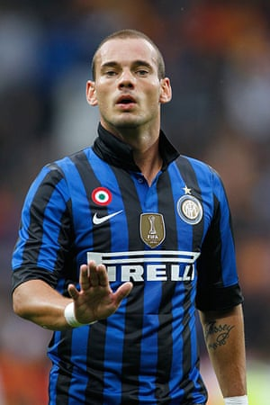 Man Utd targets: Wesley Sneijder of Internazionale