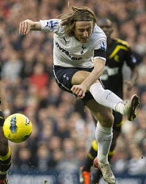 Man Utd targets: Tottenham Hotspurs' Luka Modric tries to score against Bolton Wanderers