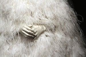 Elizabeth Taylor auction: A white feather evening cape by Chris Levin, Elizabeth Taylor auction