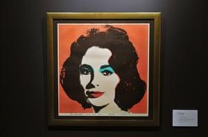 Elizabeth Taylor auction: Andy Warhol Artwork of Elizabeth Taylor, Elizabeth Taylor auction