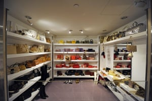 Elizabeth Taylor auction: Handbags and accessories owned by Elizabeth Taylor on display