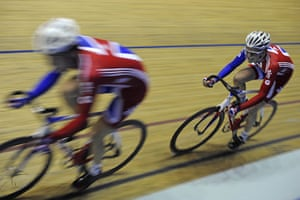 Team Pursuit Boot Camp: Steven Burke and Sam Harrison pair up in the morning