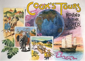 Thomas Cook: A brochure cover from Cook's Tours Round the World, 1891
