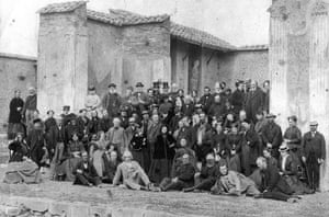 Thomas Cook: A tour party pictured in 1868