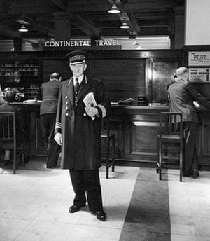Thomas Cook: A member of staff in a Cook's uniform in 1955