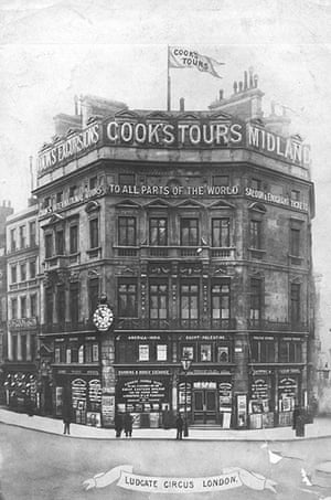 Thomas Cook: Thomas Cook's first head office in Ludgate Circus, London, c.1910