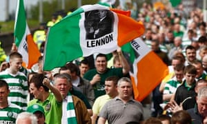 Celtic football fans