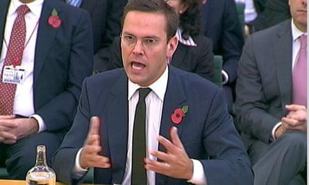 James Murdoch speaks to MPs