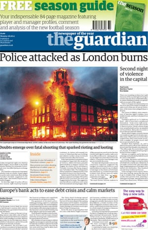 August 6 riots frontpage