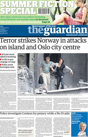 July 22 Norway frontpage
