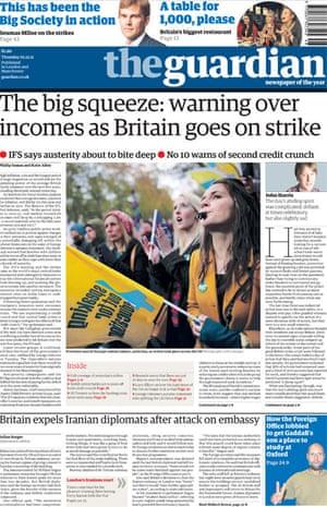 November 30 strikes frontpage
