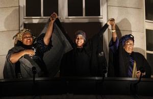 Women of the year 2011: Nobel prize winners Leymah Gbowee, Tawakul Karman, Ellen Johnson Sirleaf