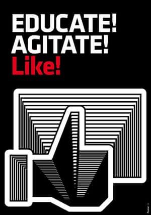 DSG posters: Educate! Agitate!