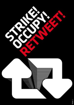 DSG posters: Strike! Occupy! Retweet!