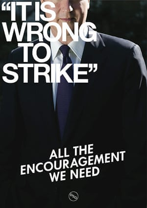 DSG posters: It's Wrong To Strike