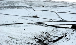 Snowfall in Cumbria