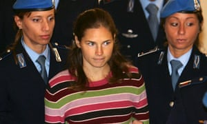 Amanda Knox at a pre-trial court hearing in Perugia, Italy, in 2008