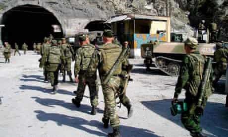 Russian troops in Dagestan province