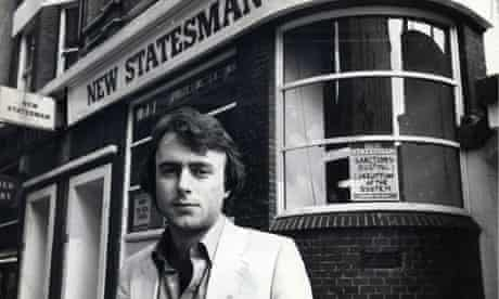 Christopher Hitchens Writer Outside The Office Of The New Statesman