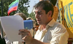 Kamalov attends an opposition protest in the Dagestani capital Makhachkala in 2008.