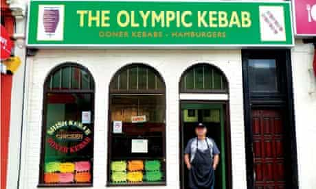 The Olympic Kebab shop in east London.
