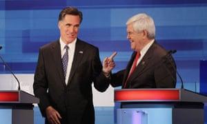 Gingrich Romney debate