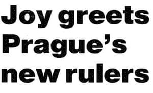 Joy at Prague's new rulers