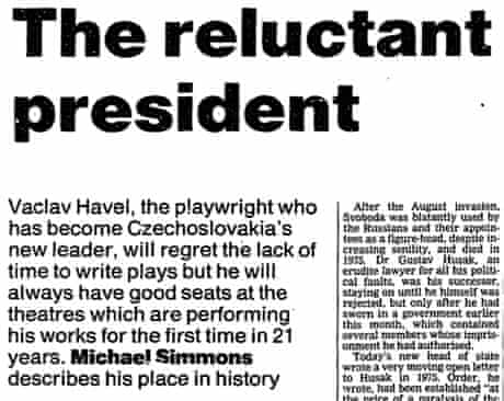Havel the reluctant president