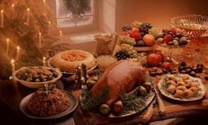 goose christmas dinner